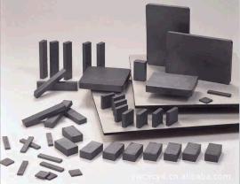 供应黑色铁氧体磁铁,异性切割铁氧体
