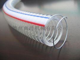 山东宁津工业吸尘软管PU钢丝伸缩除尘风管木工机械清扫车管