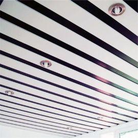 铝合金条扣板天花 可密拼白色C型铝条扣铝医院吊顶