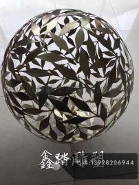 精美不锈钢镂空圆球雕塑异型装饰造型件