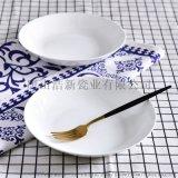 浩新瓷業陶瓷盤子 家用骨瓷8寸湯盤 創意碗盤碟套裝