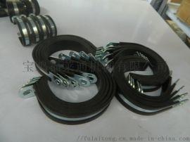 R型镀锌钢带管卡套胶条