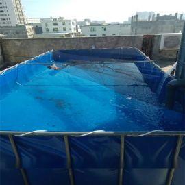 帆布水池生產廠家_帆布水箱圖片_水蛭養殖池材質