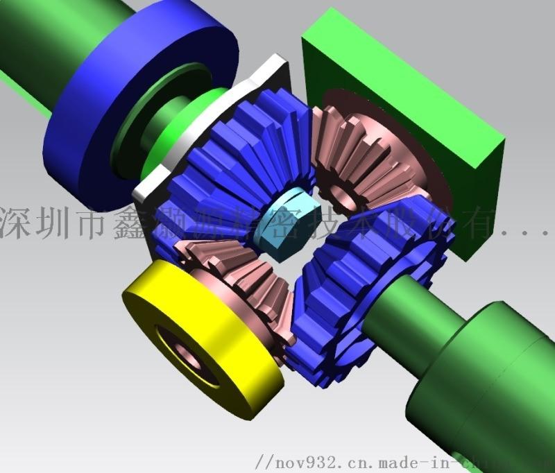 同轴正反转机构无噪音齿轮箱设计与制造