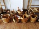 厂家直销桑拿房专用木桶木勺