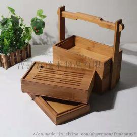 中式食盒定制手提木盒