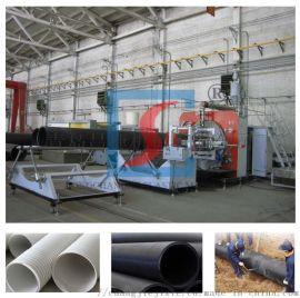 HDPE双平壁缠绕管生产线
