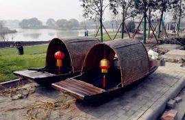 江南木船手工定做紹興旅遊烏蓬船中式旅遊觀光木船