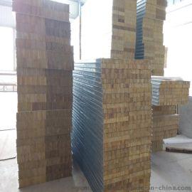 净化车间岩棉夹芯板 机制岩棉板75mm