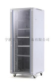 美度機櫃42U800*800玻璃門機櫃鐵板門機櫃
