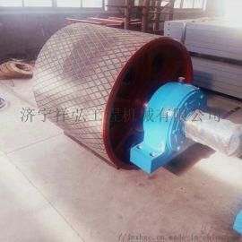 加厚包胶的胶带机主动滚筒 阻燃胶带机主动滚筒
