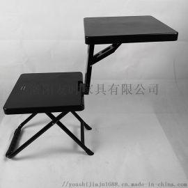 制式单兵折叠凳学习椅小桌板座椅多功能折叠椅