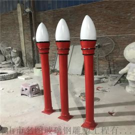 玻璃钢校园雕塑厂家、校园毛笔造型雕塑定做