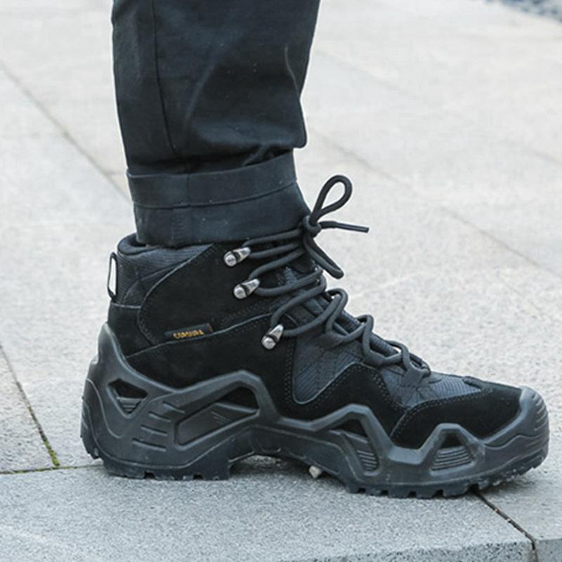 miltec戶外徒步登山鞋沙漠靴防水牛皮