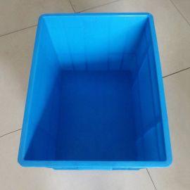 蓝色塑料周转箱 ,塑料长方形周转箱,塑料箱