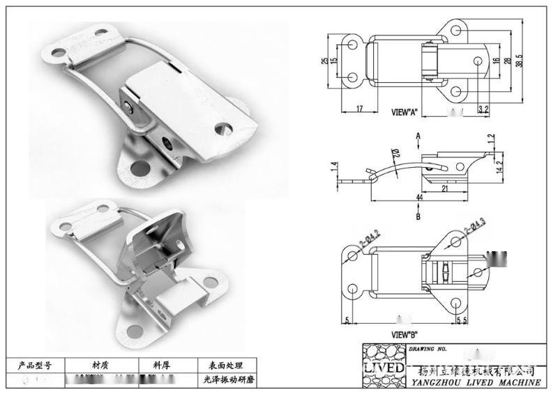 廠家直銷QF-108船用S304不鏽鋼搭扣、防腐保溫工程搭扣 閥門箱釦