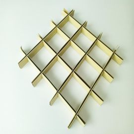 铝格栅厂家直销格栅吊顶装饰材料规格木纹铝格栅定制