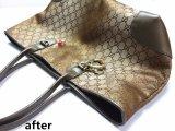 奢侈品護理Gucci絲質金色女包磨損修復