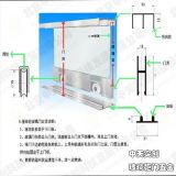 5厘玻璃柜滑轮滑轨,玻璃展示柜滑轮滑轨五金