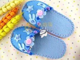 儿童布艺手工可爱鱼嘴拖鞋材料包MDF-19002