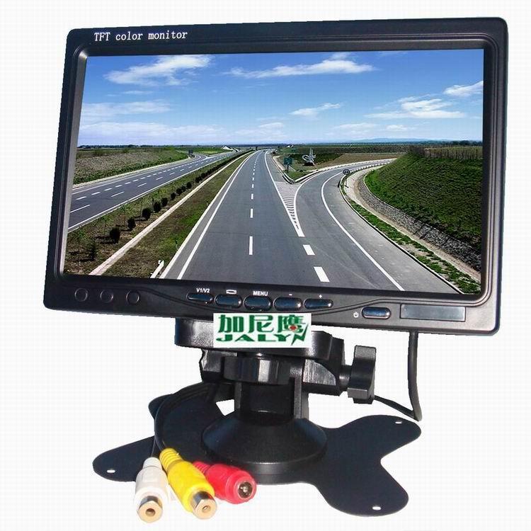 供應加尼鷹7寸顯示器 液晶監視器 車載液晶顯示器 2路RCA視頻 高清屏 DVD機頂盒倒車影像