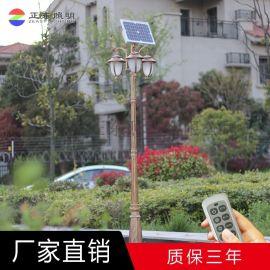 欧式太阳能庭院灯2头3米4米5米