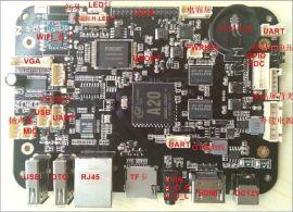 双核安卓主板,全志A20广告机主板