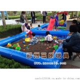 充气沙池决明子  广西河池儿童游乐园沙池