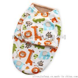 秋冬款双层短毛绒婴儿包巾襁褓睡袋 宝宝抱被抱毯紫柔厂家批发