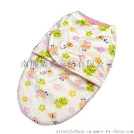 紫柔现货批发双层短毛绒抱被婴儿睡袋 新生儿襁褓毯子童毯 超柔软襁褓