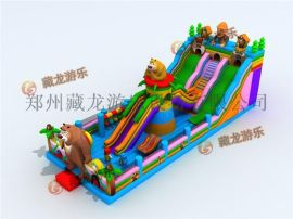 新款热卖充气滑梯,充气城堡蹦蹦床,大型室外儿童玩具淘气堡攀岩