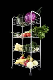 思愛居可移動儲物架廚房蔬菜架(鐵架)