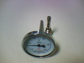 双金属圆盘式温度表及保护管
