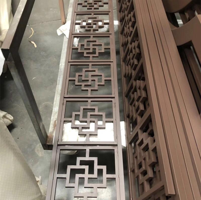 铝合金屏风 餐厅铝花格屏风【铝方管焊接】专业生产厂家