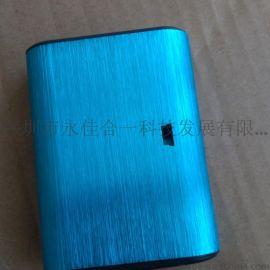 深圳品牌voyo厂家供应带灯移动电源足量5000毫安手机应急充电宝金属拉丝外壳