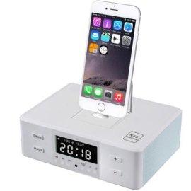 蘋果安卓手機三合一底座充電酒店客房鬧鍾藍牙音箱