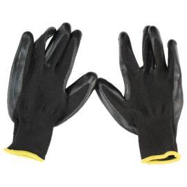 NW-1 黑色尼龙浸丁腈橡胶 防滑耐油劳保工作手套 超轻便
