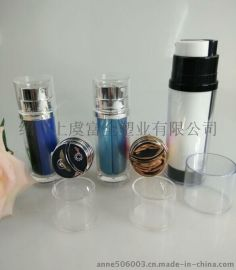 专业供应亚克力双管瓶 高档亚克力化妆品包装瓶