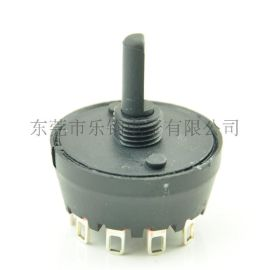 LIUKG黑色圆形大电流旋转开关/MFR01多脚位大电流旋钮开关