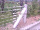 钢丝绳护栏厂家、柔性防撞护栏、五索钢丝绳护栏