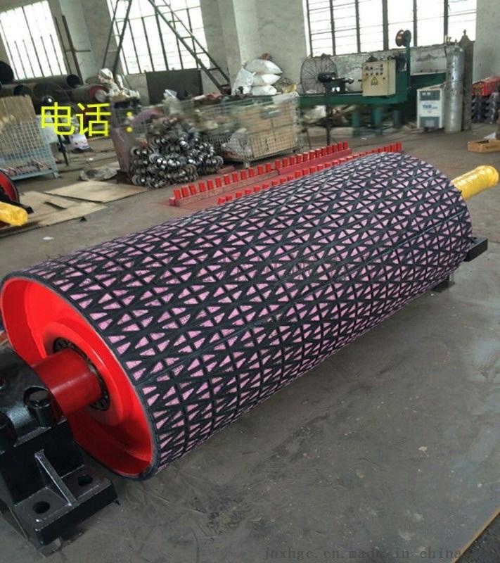 厂家定制皮带机卸载传动陶瓷包胶滚筒