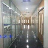 辦公室玻璃隔斷牆高隔斷 雙玻內置百葉鋼化玻璃隔音牆