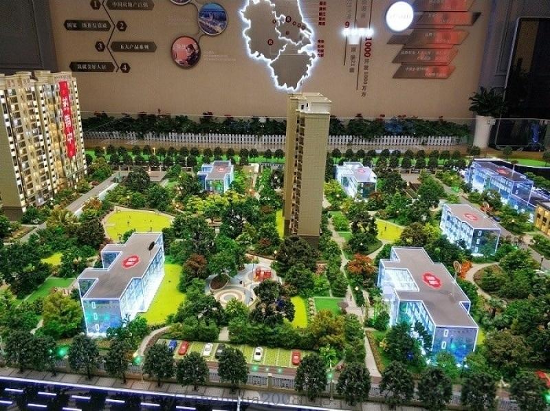 南京模型公司 南京弘陽.時光春曉 訂製沙盤模型