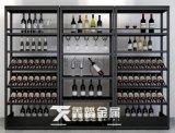 黑金不锈钢酒柜酒架让您的爱酒得到   的储存与展示