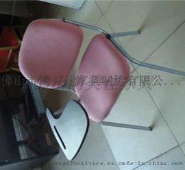布艺职员培训椅,带写字板职员培训鸿美佳厂家供应