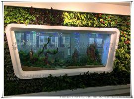溧阳鱼缸定做办公室水族箱大型生态水族箱 上海玻璃鱼缸