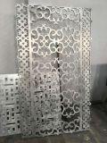 雕刻铝板屏风隔断,木纹转印系列雕刻铝板