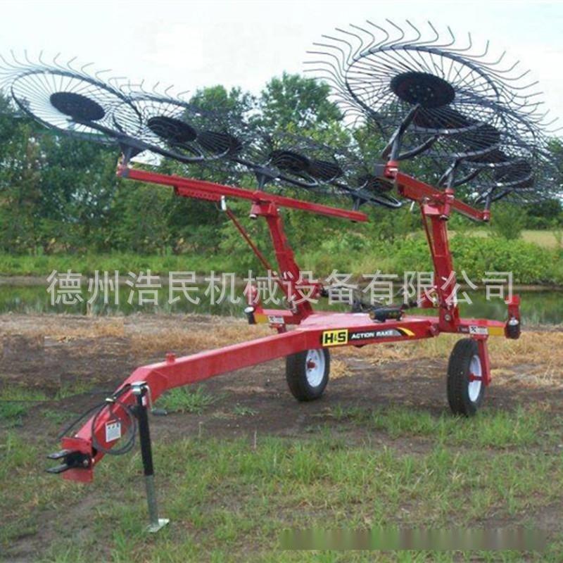 秸稈紙盤摟草機 懸掛式 牽引式摟草機  牧場摟草機