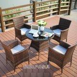 广州藤编户外桌椅|花园庭院编藤桌椅