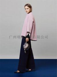 批發品牌女裝折扣店尾貨女裝 2017年新款歐美潮牌雙面羊絨大衣